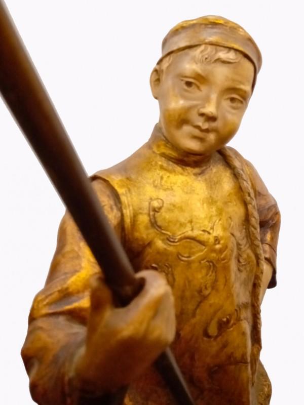 Chinese lantaarndrager lamp, gesigneerd: Bernard