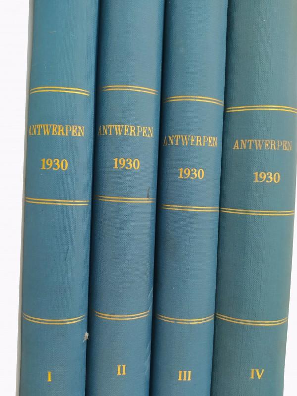 4 Delige reeks antieke boeken, Antwerpen 1930