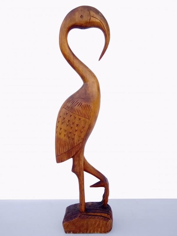 Exotisch houten kraanvogel