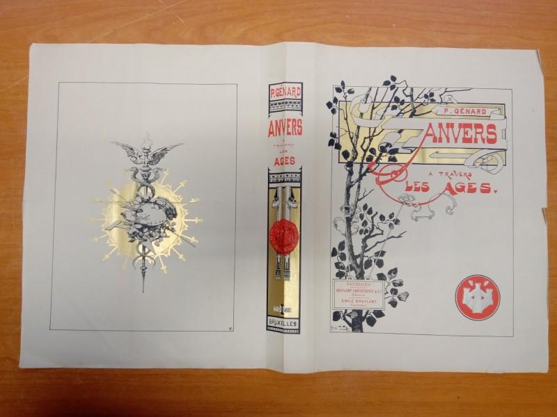 Antieke ongebonden verzameling Anvers Travers des age
