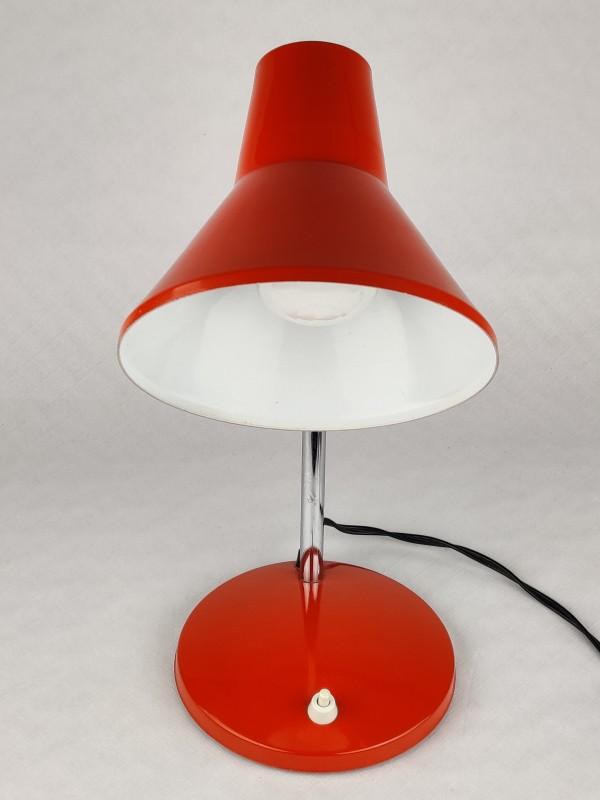 Vintage oranje bureaulamp