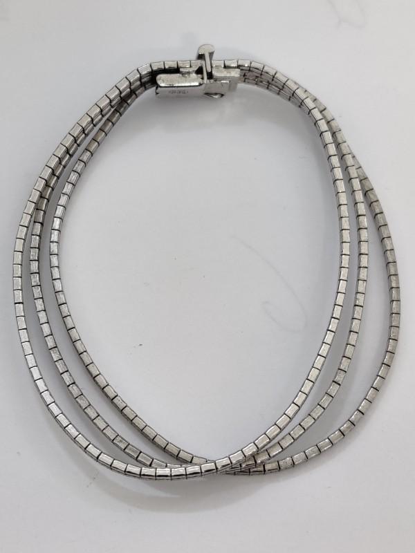 zilveren armband met 3 banden