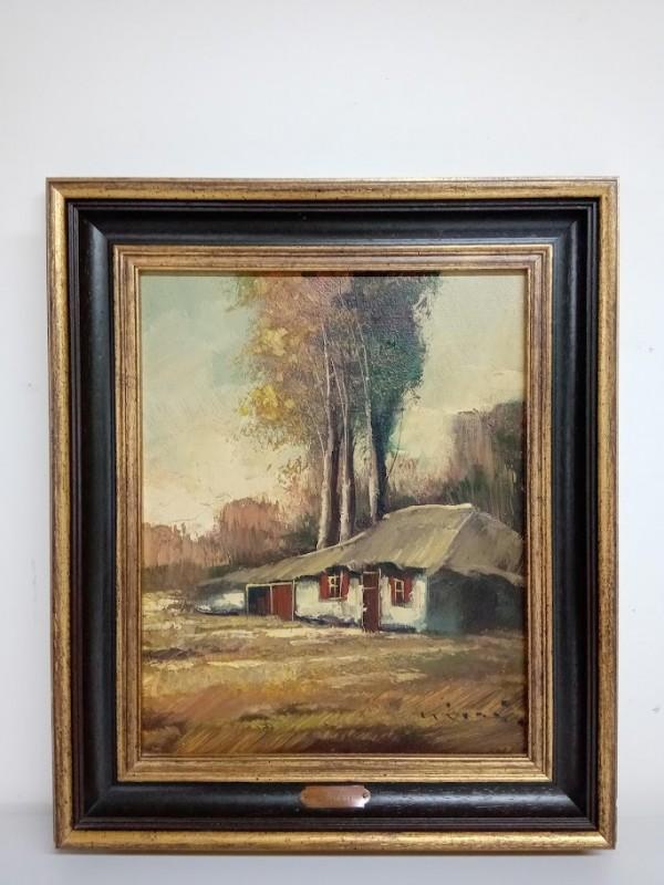 schilderij : boerderij