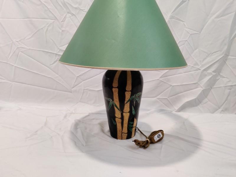 Vintage tafellamp met bamboemotief