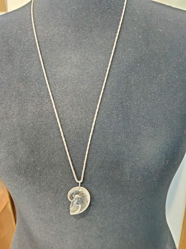 zilveren halsketting met schelpenhanger