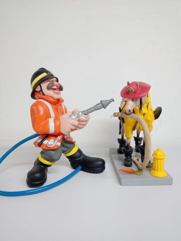 figuren: paard en brandweerman