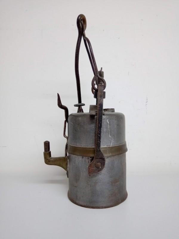 brocante mijnwerkers lamp carbid