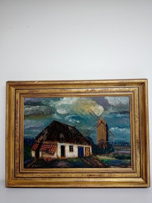 schilderij: boederij van L. Moons