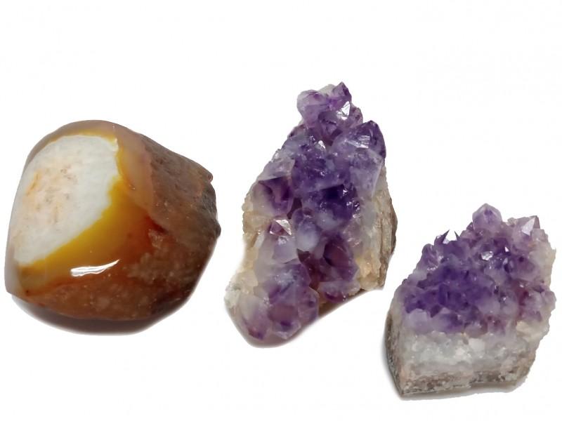3 stukken bergkristal