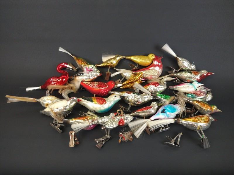 lot kerstdecoratie 25 vogels