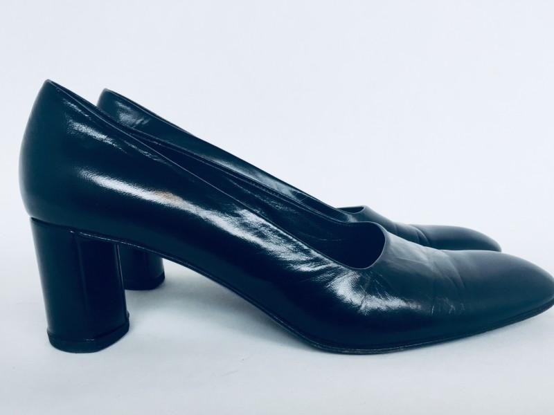 Jill Sander Black Leather Pumps