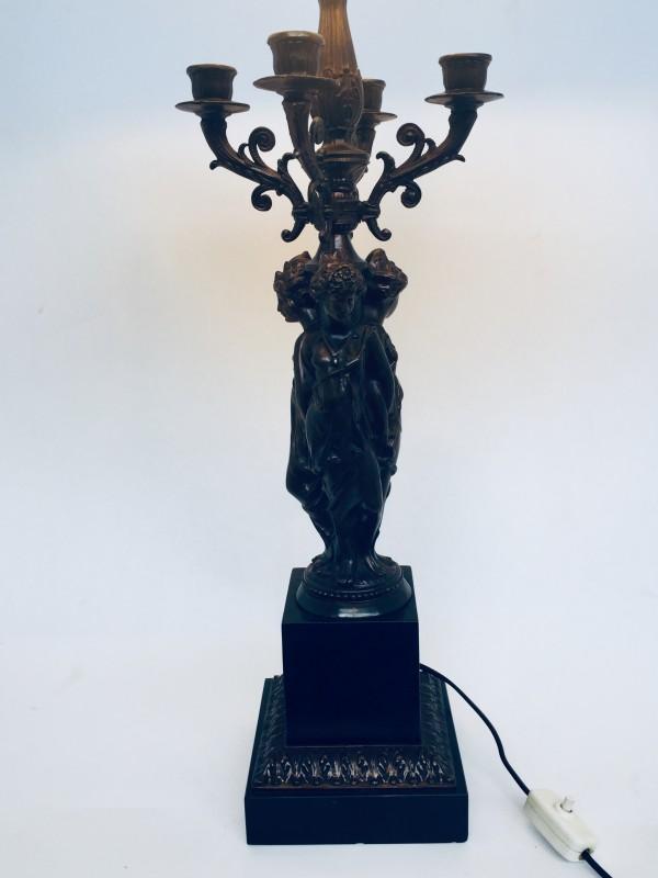 Barokke Lamp Met Kandelaars en 3 Vrouwen