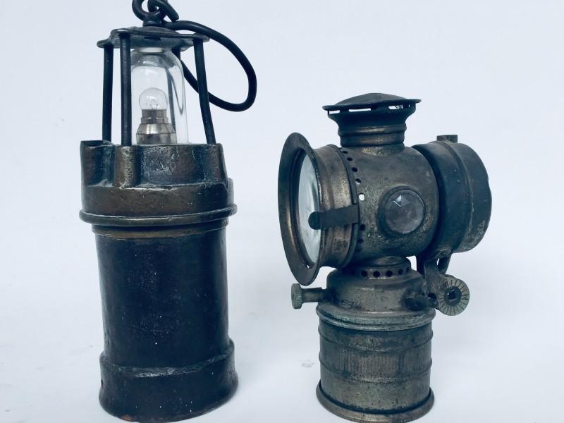 Mijnwerkerslamp + Fietslamp
