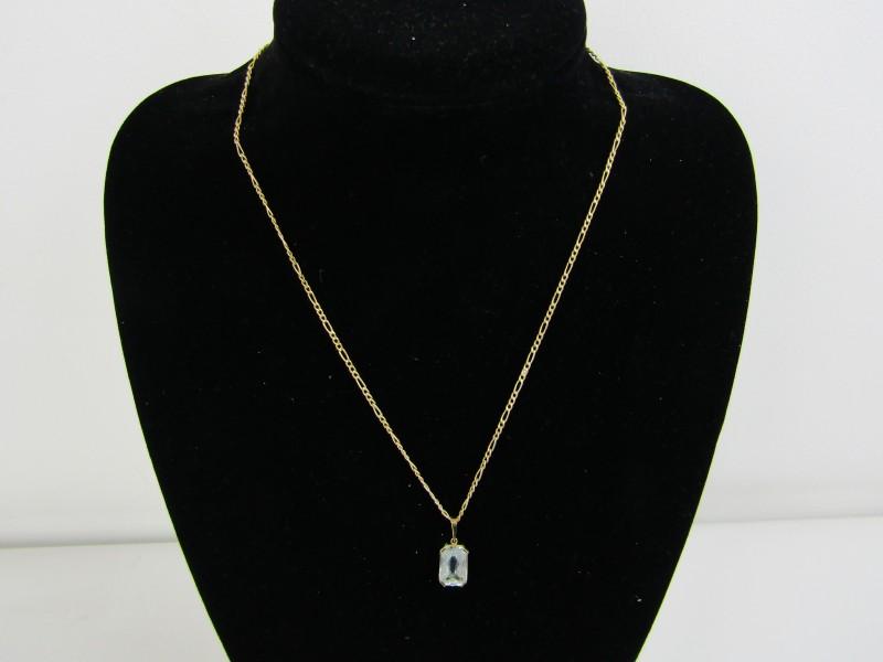Gouden 585 (14K) ketting + Gouden 0750 (18K) Hangertje