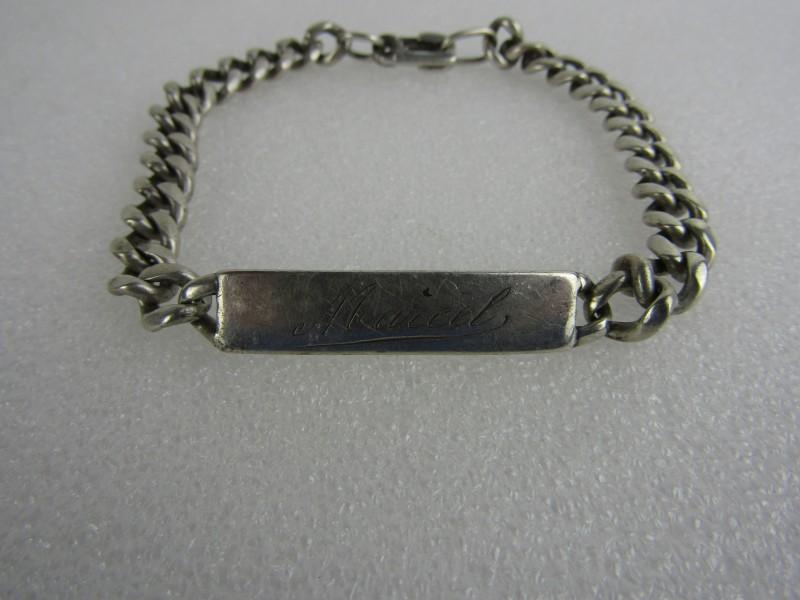 Zilveren Naam Armband (A835) gestempeld:
