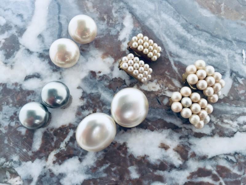 5 Paar Vintage Oorbellen Met Parels