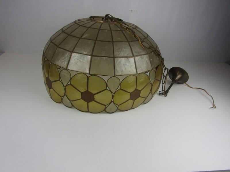 Hanglamp Groot, Parelmoer, Bloemmotieven
