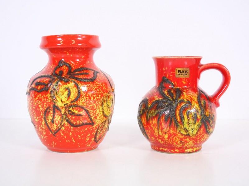 Vaas en kruikje Bay Keramik - West Germany
