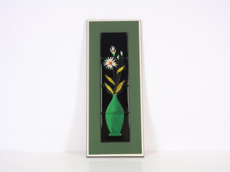 Jaren '70 wandversiering kader met tegels