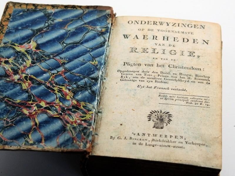 Boek  Onderwijzingen Christendom 1820