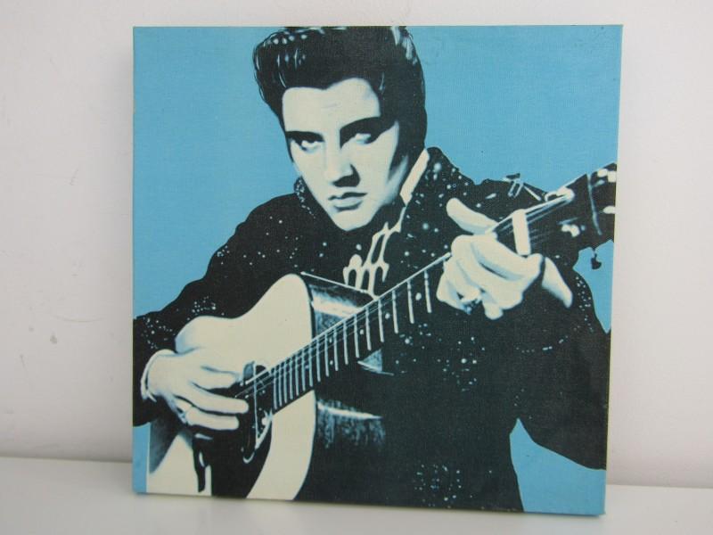 Canvasschilderij: Elvis Presley met Gitaar