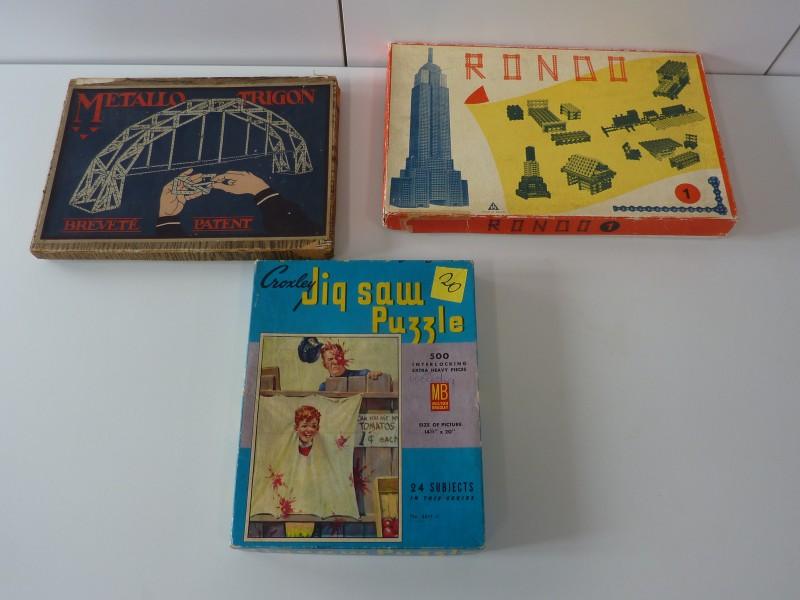 Set van 3 retro speelgoed in originele doos