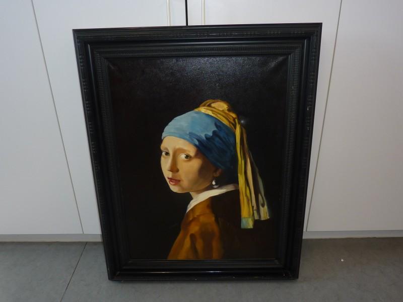 Replica schilderij: Meisje met parel van Vermeer
