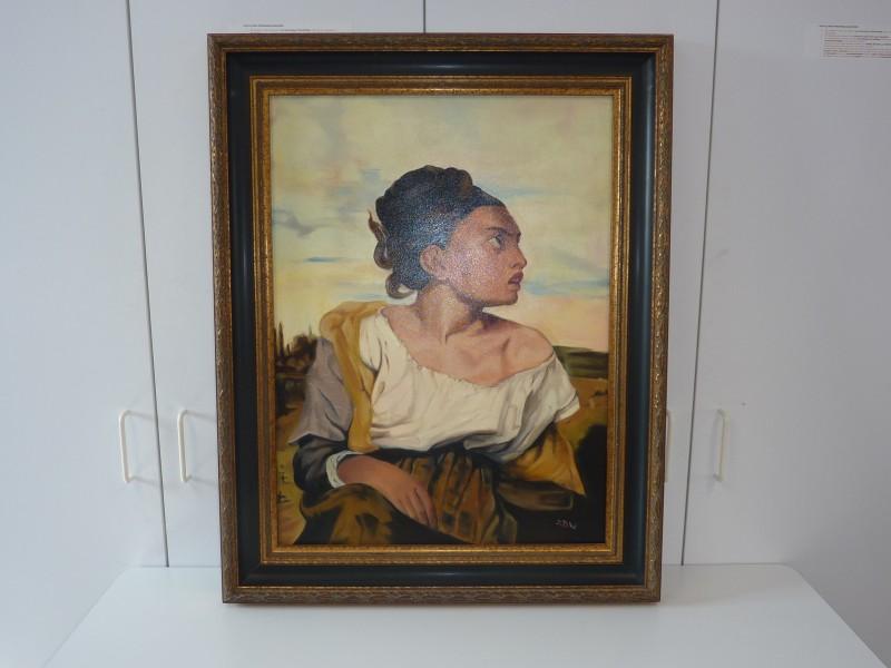 Schilderij van een vrouw in zigeunerstijl