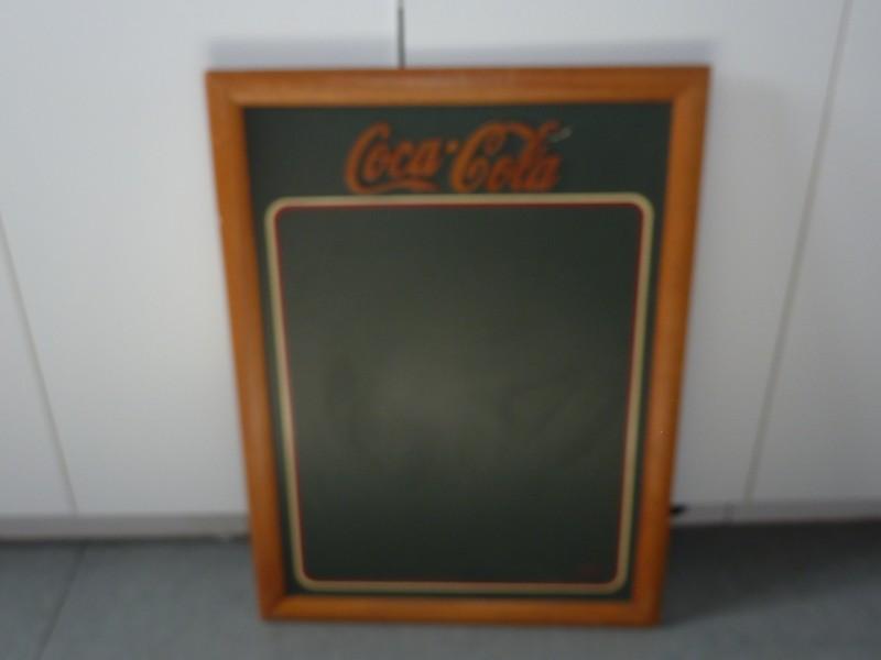 Mooi houten schrijfbord van Coca-Cola
