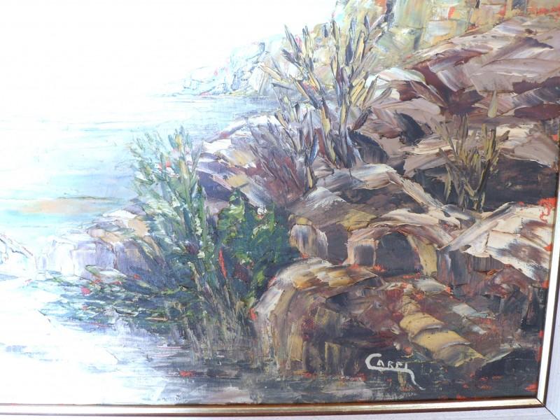 Schilderij landschap (Capri)