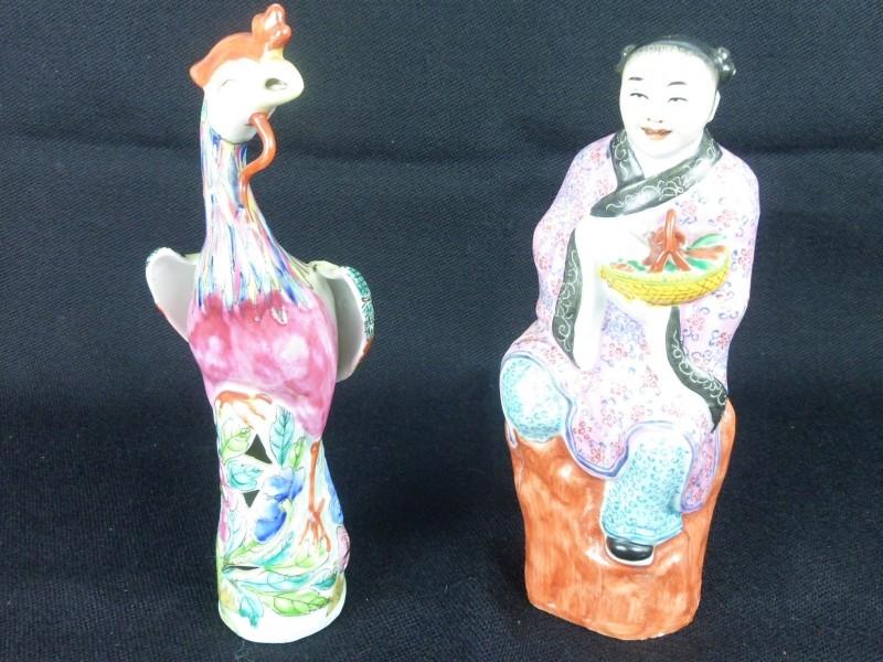 2 Chinese porseleinen beelden