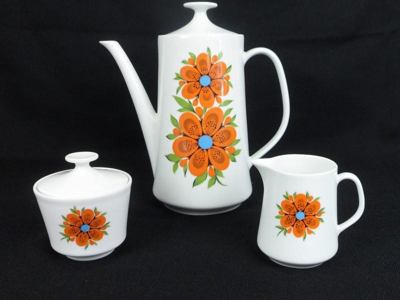 Vintage porseleinen koffie-set
