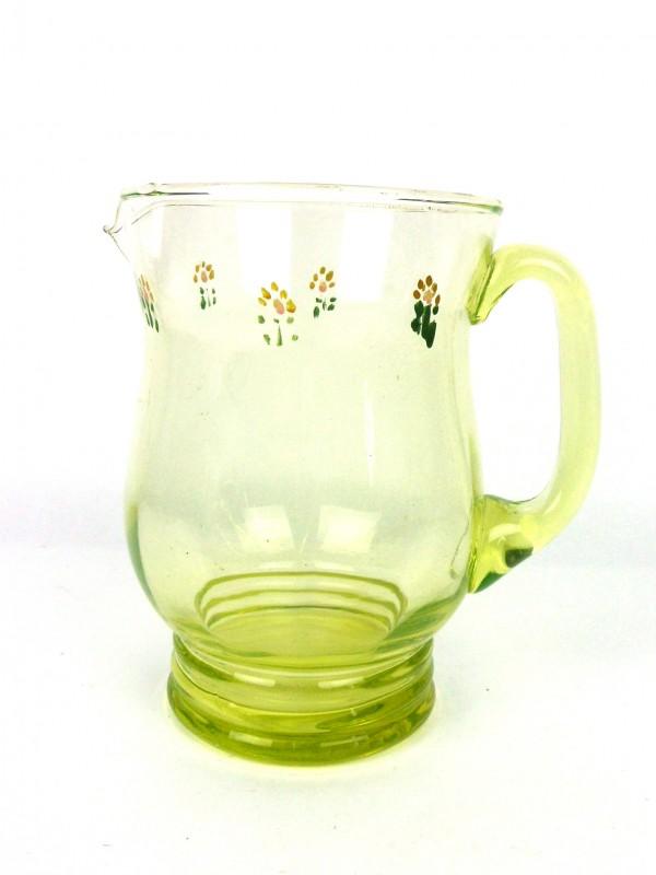 Vintage groene glazen karaf