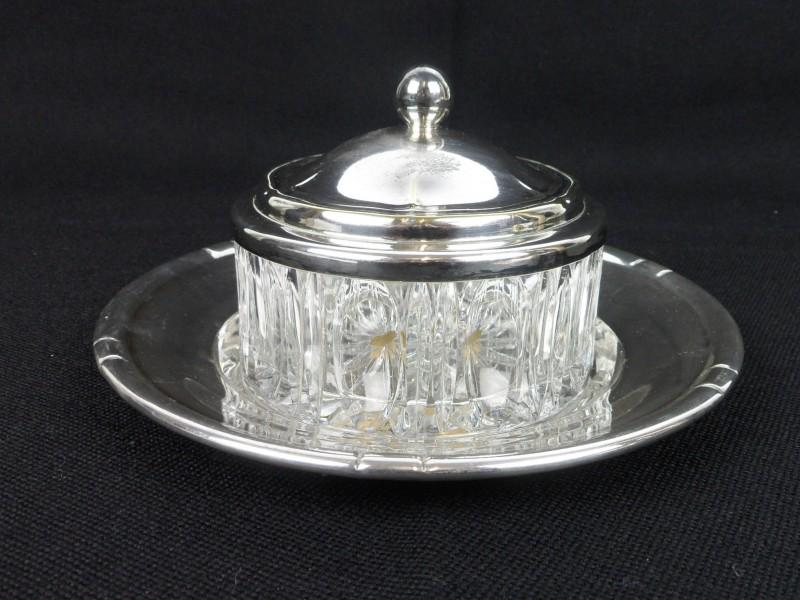 Kristal/verzilverd botervlootje