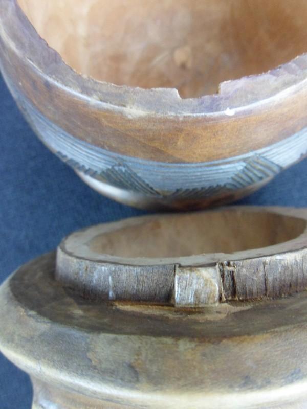 Afrikaanse houten potje