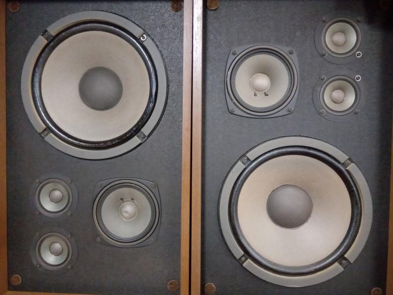 Paar vintage Kenwood luidsprekers