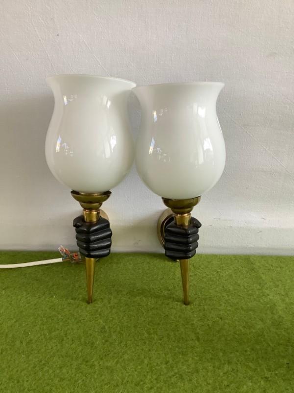 2 decoratieve wandlampen