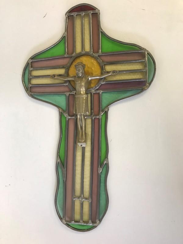 Kruisbeeld, Glas-In-Lood