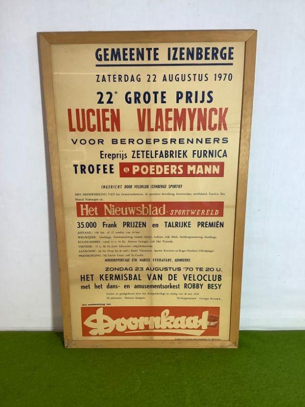 Retro affiche: 22ste Grote Prijs Lucien Vlaeminck - 1970