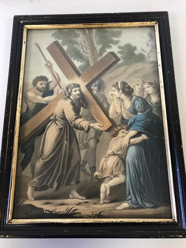 Katholieke Prent: Jezus Troost De Wenende Vrouwen