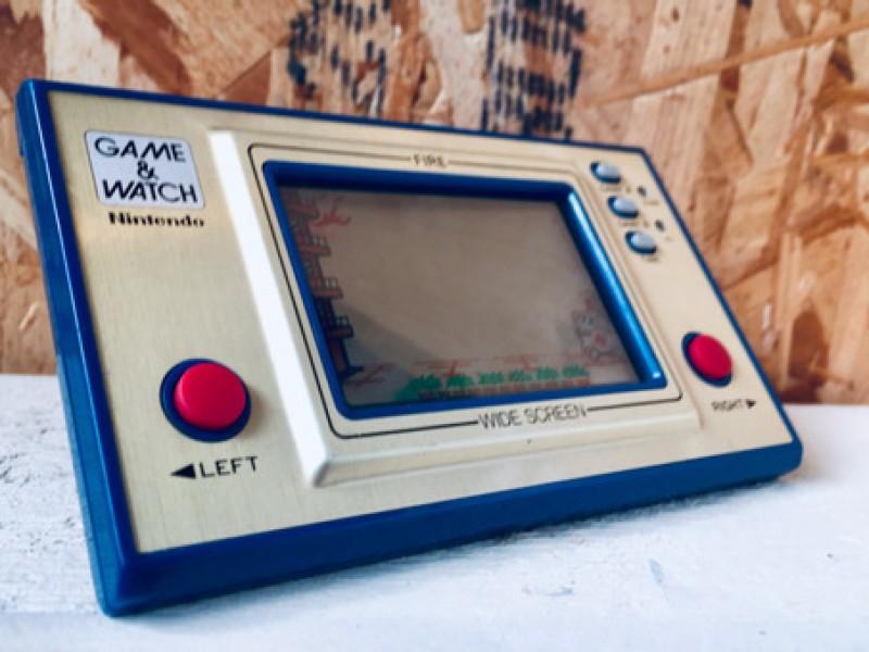 2 Hand Held - Games: Nintendo Game & Watch Fire + Neko Don Don