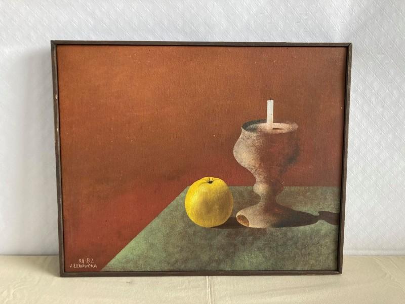 Schilderij: stilleven: Josef Lehoucka